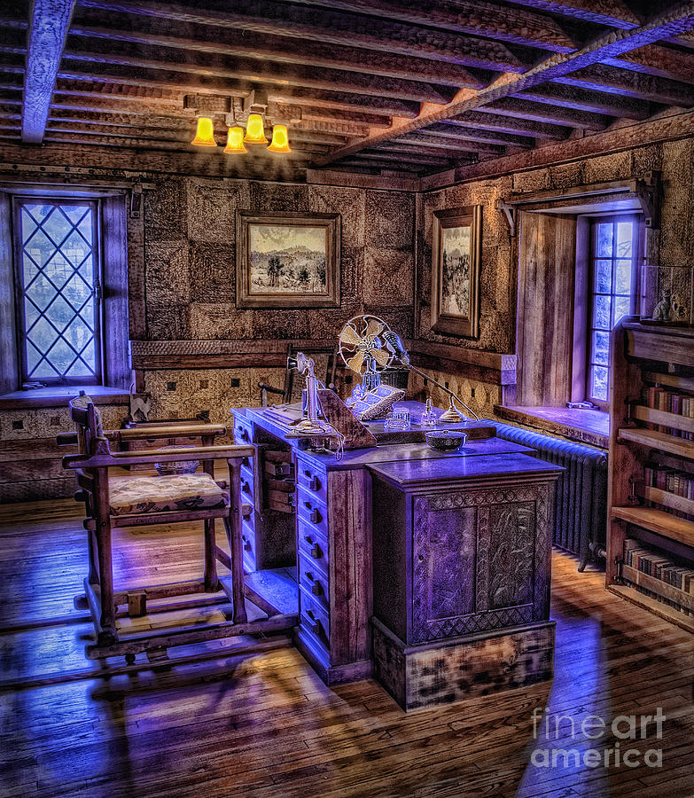 Gillette Castle Office Hdr Photograph