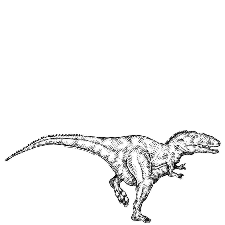 Gimpusaurus - Dinosaur Drawing