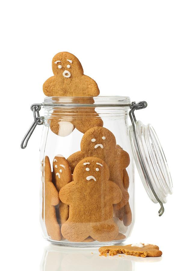 Gingerbread Photograph - Gingerbread Men Escape by Amanda Elwell