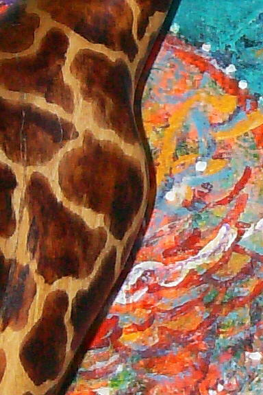 Giraffe s View From Above  Mixed Media