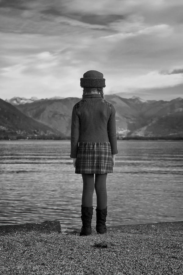 Girl At A Lake Photograph