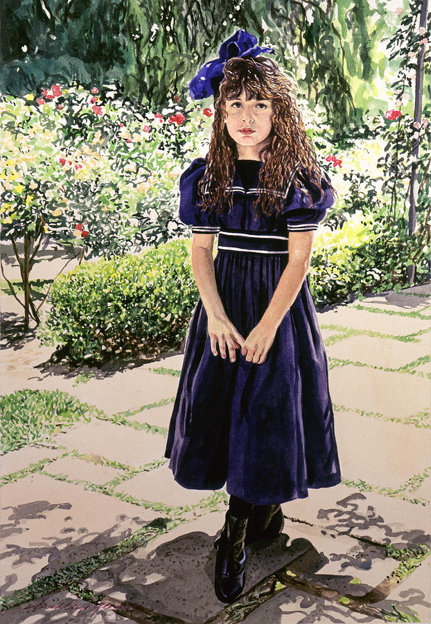 Girl At The Huntington Painting  - Girl At The Huntington Fine Art Print