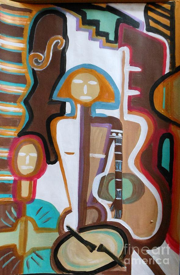 Girl Painting - Girl Band by Marie Bulger