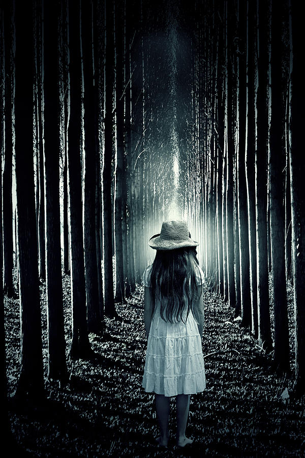 Girl In The Forest Photograph