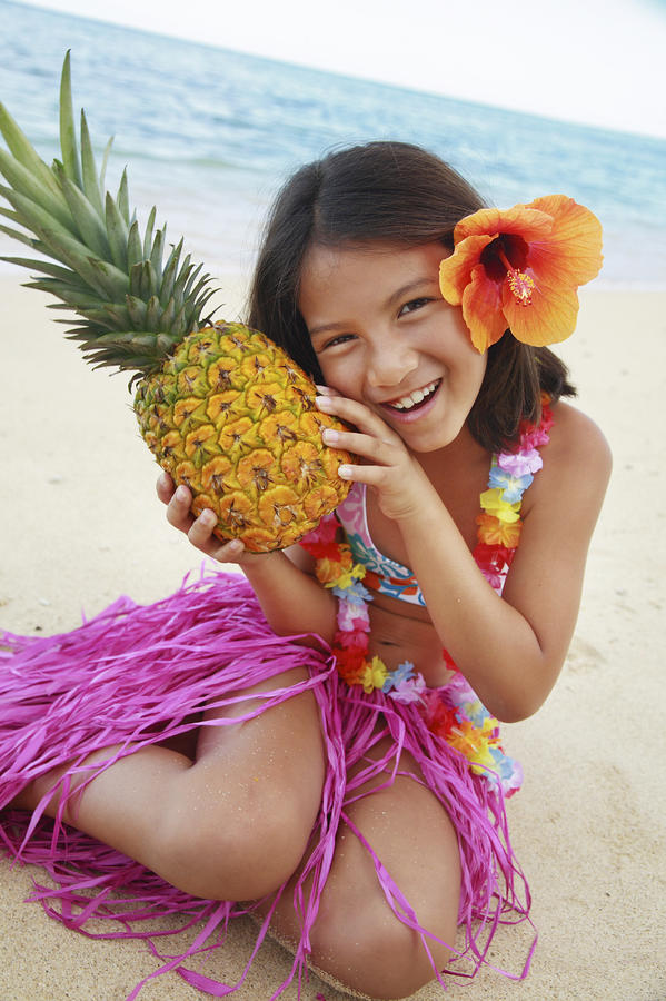 Girl In Tropical Paradise Photograph