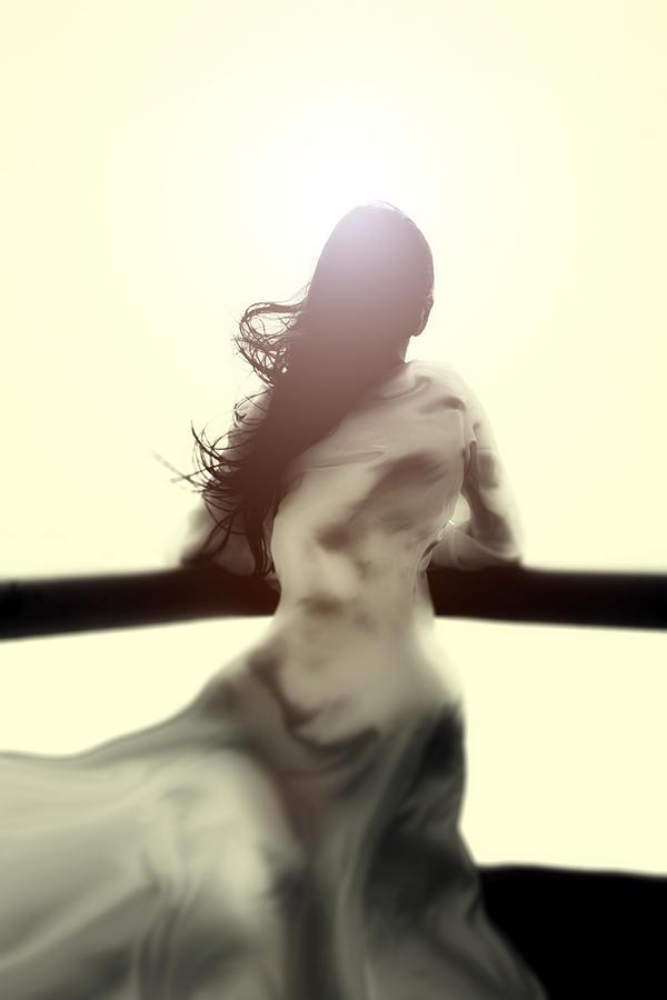 Girl Photograph - Girl In White Dress by Joana Kruse