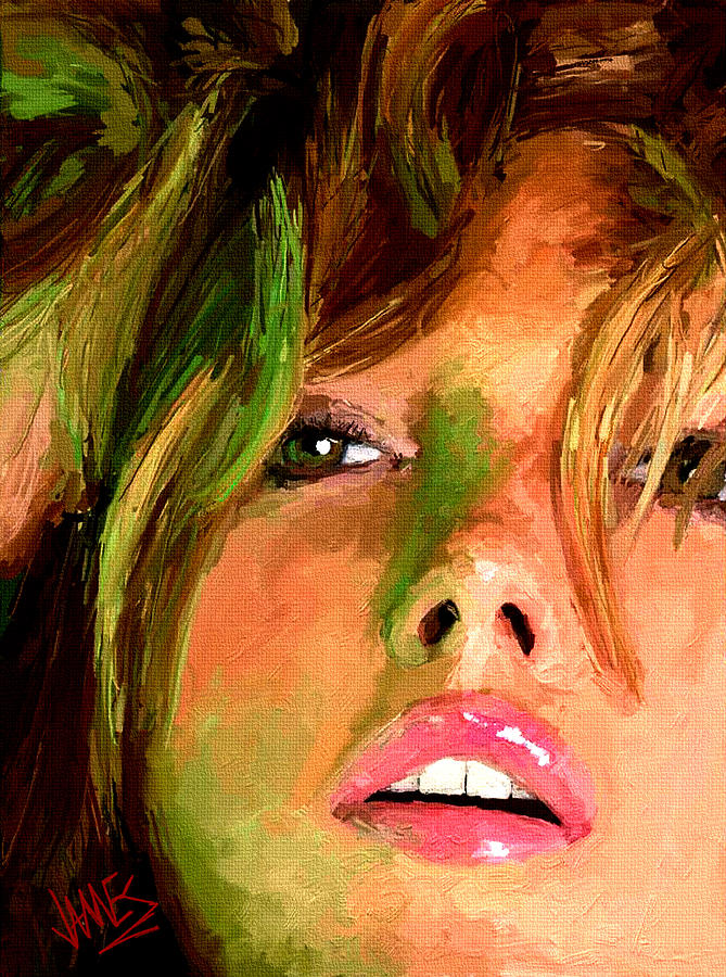 Girl Portrait 07 Painting  - Girl Portrait 07 Fine Art Print