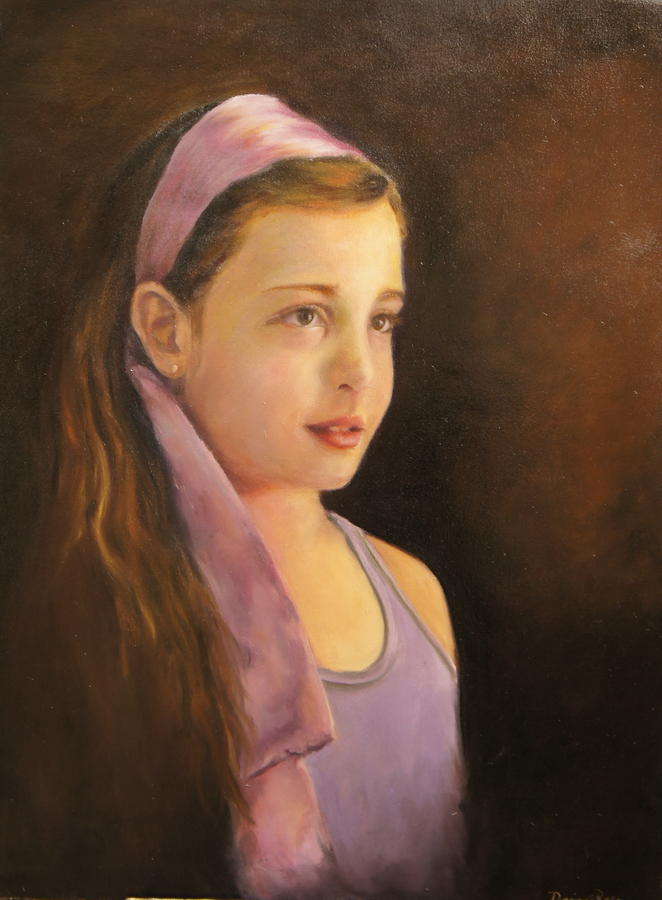 Girl With A Satin Headband Painting