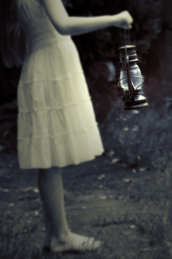 Girl With An Oil Lamp Photograph  - Girl With An Oil Lamp Fine Art Print