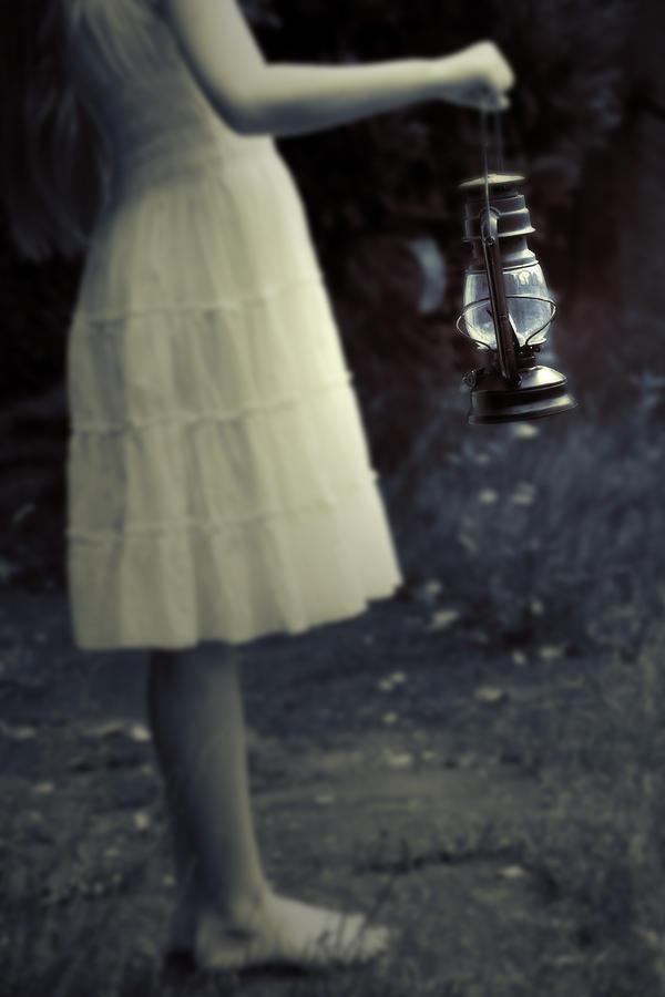 Girl Photograph - Girl With An Oil Lamp by Joana Kruse