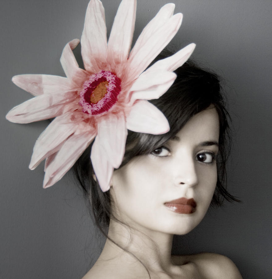 Girl With Flower Photograph  - Girl With Flower Fine Art Print