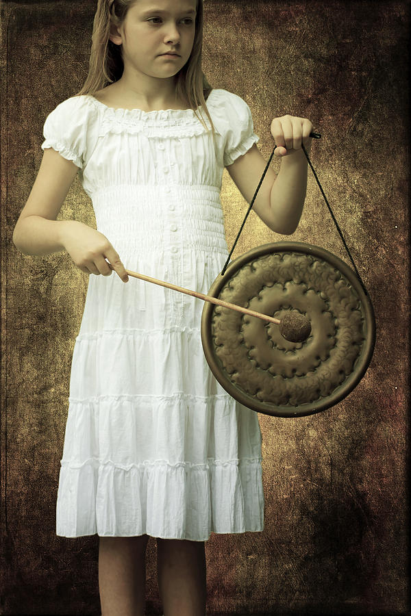 Girl With Gong Photograph