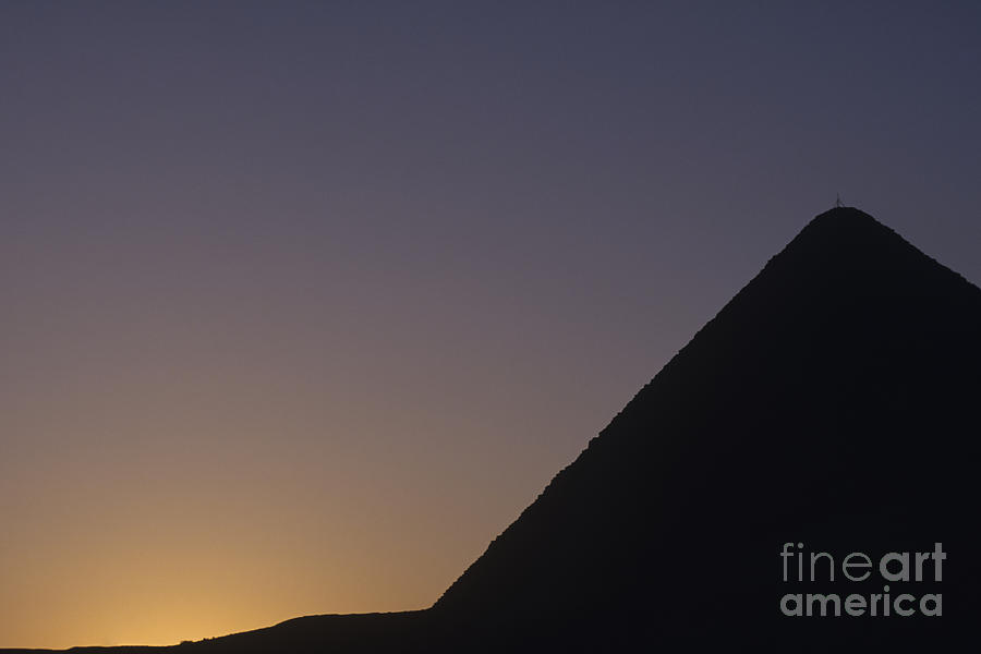 Giza Pyramid At Dusk Photograph