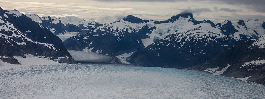 Frederick Sound Photograph - Glacial Panorama by Mike Reid