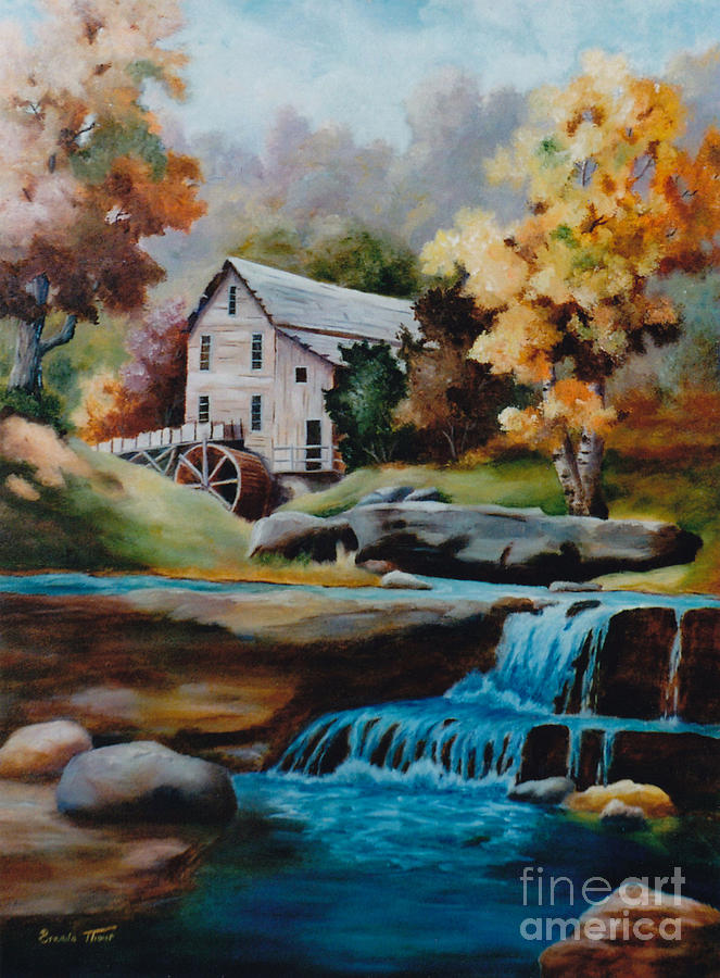 Glade Creek Mill Painting  - Glade Creek Mill Fine Art Print