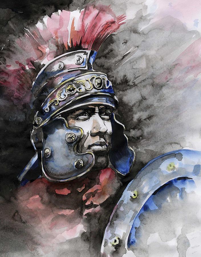 Gladiator painting