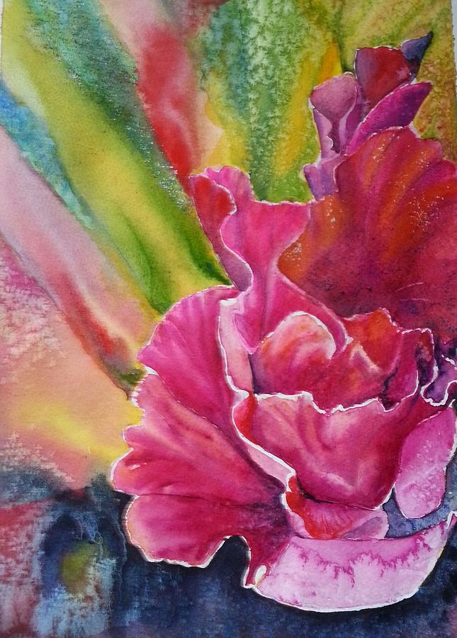Gladiolus Painting by Tatyana Seamon