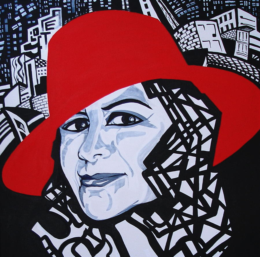 Glafira Rosales In The Red Hat Painting