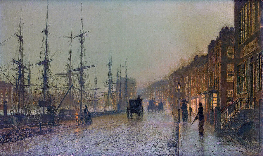 Glasgow Docks 1881 Painting  - Glasgow Docks 1881 Fine Art Print