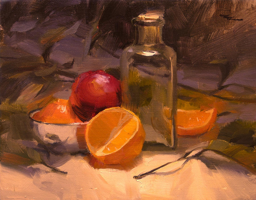 Still Life Painting - Glass And Steel by Richard Robinson