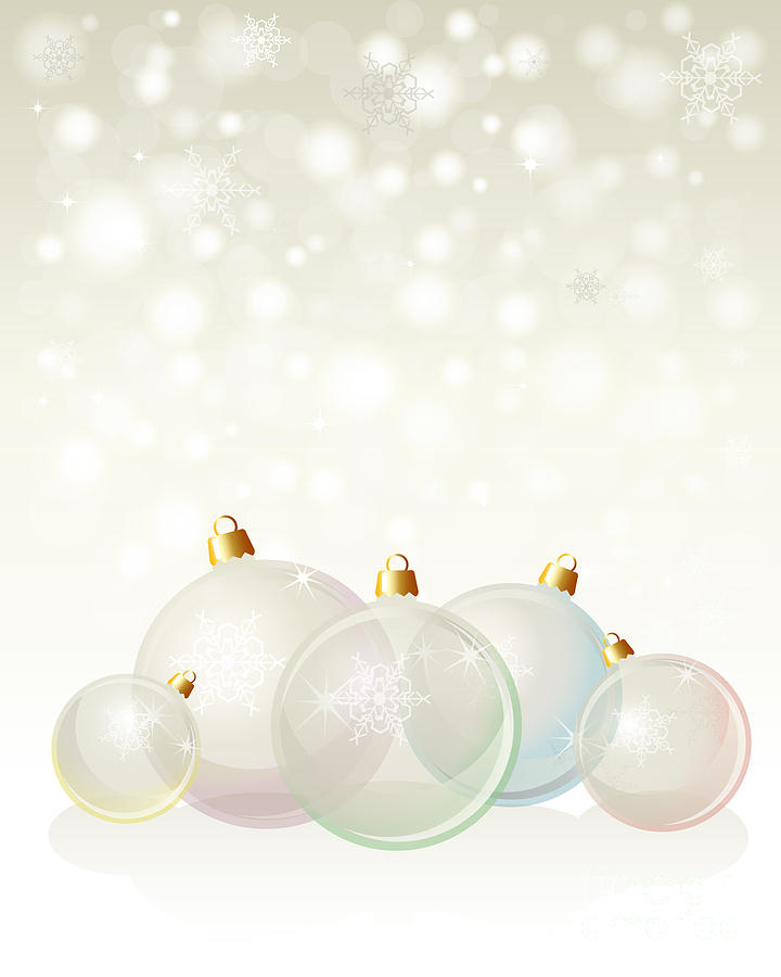 Background Photograph - Glass Baubles Pastel by Jane Rix