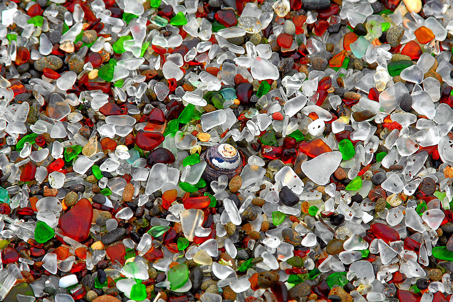 Glass Beach Fort Bragg Mendocino Coast Photograph