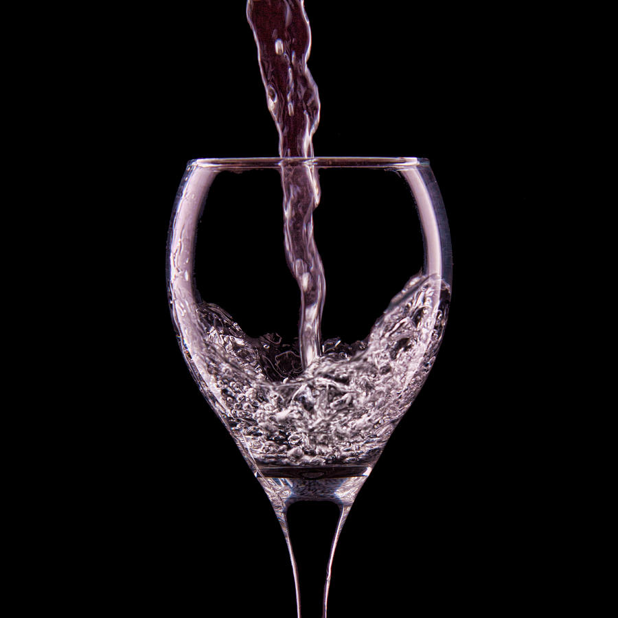 Glass Of Water Photograph  - Glass Of Water Fine Art Print