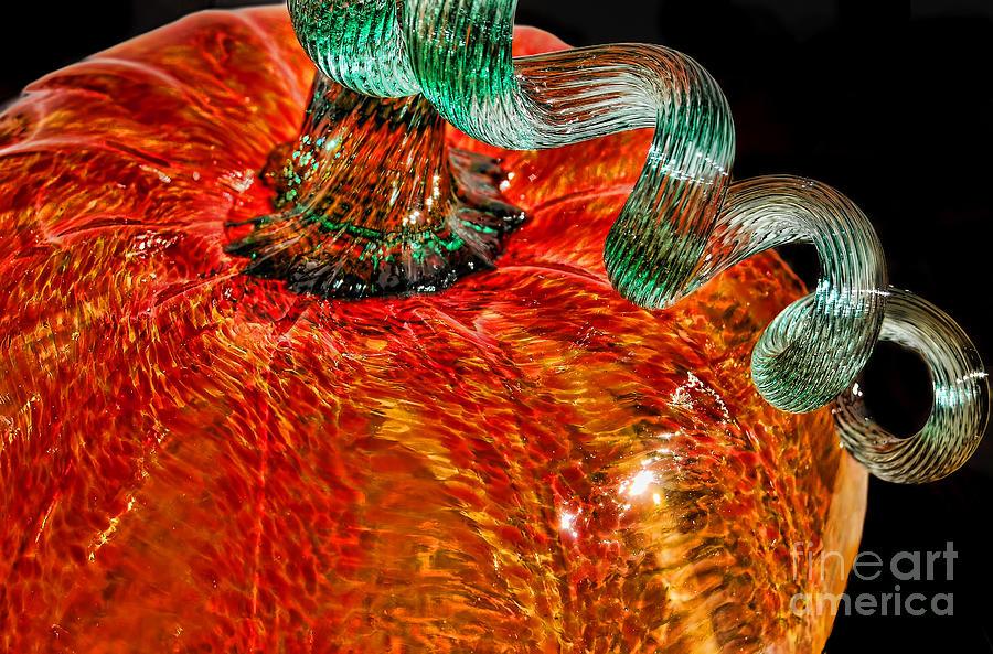 Autumn Photograph - Glass Pumpkin   by Alexandra Jordankova