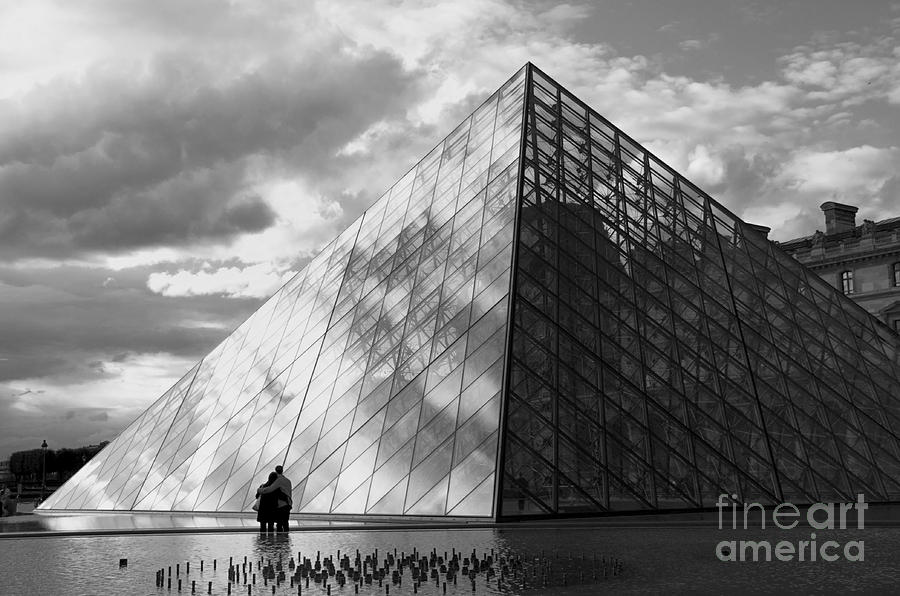Glass Pyramid. Louvre. Paris.  Photograph