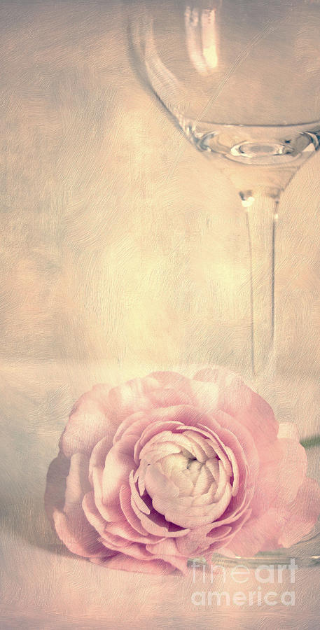Glass With Flower Photograph  - Glass With Flower Fine Art Print
