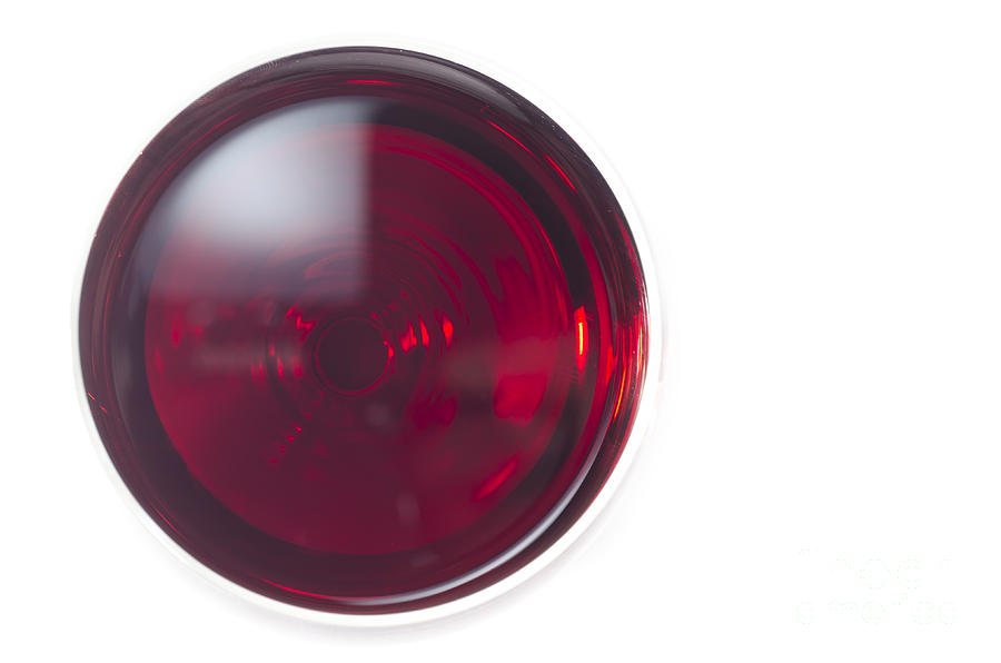 Glass With Red Wine Photograph