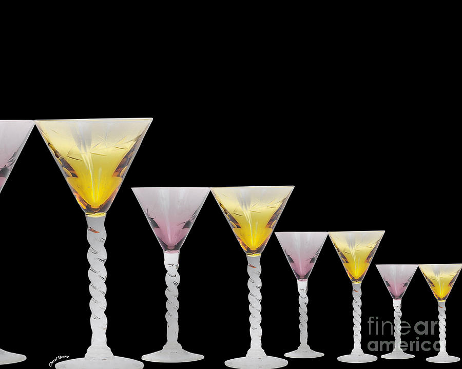 Glass Photograph - Glasses by Cheryl Young