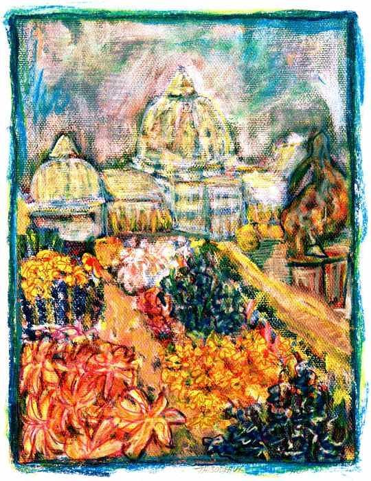 glasshouse on Bele Island Painting