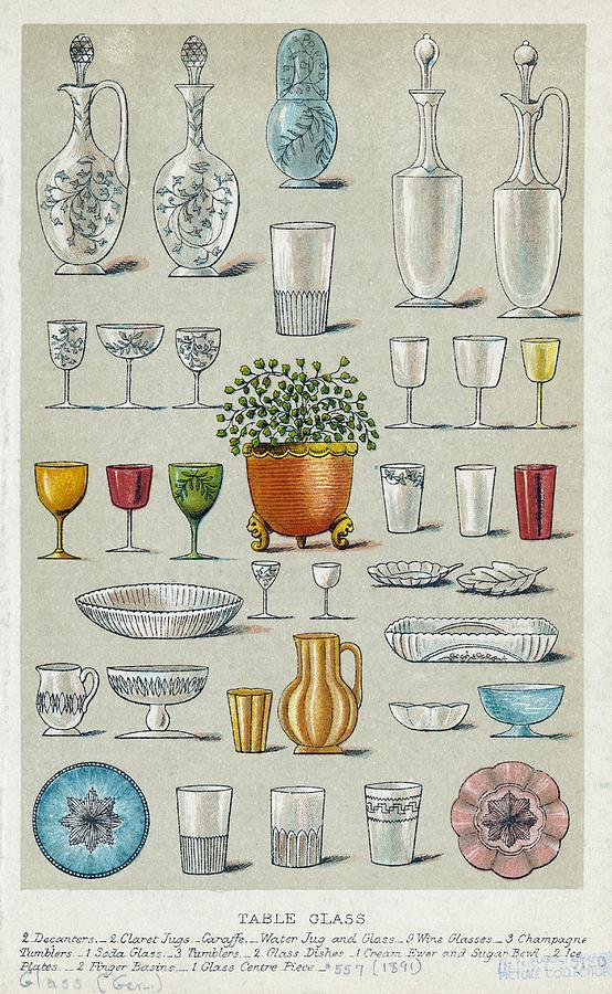 Glassware, Historical Artwork Photograph