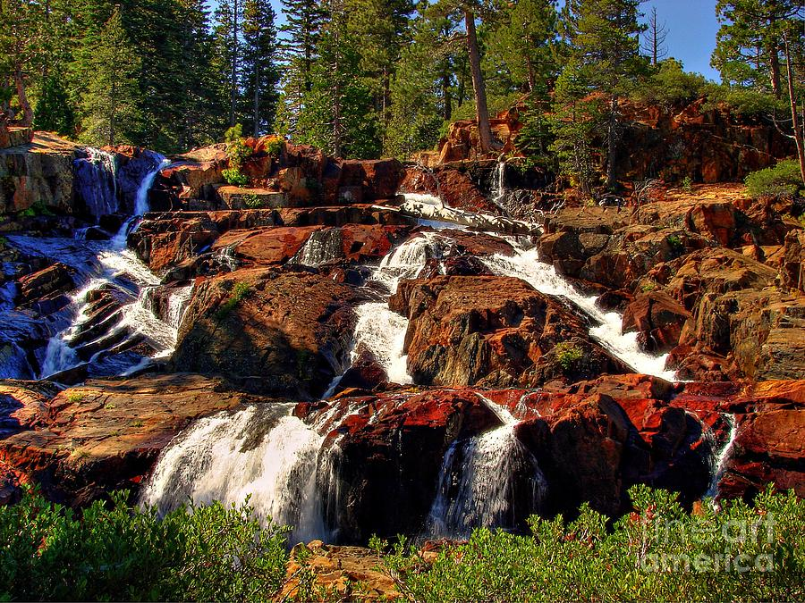 Glen Alpine Falls Photograph  - Glen Alpine Falls Fine Art Print