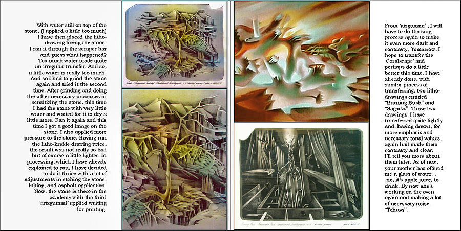 Glenn Litho-diary 1981-85 Drawing