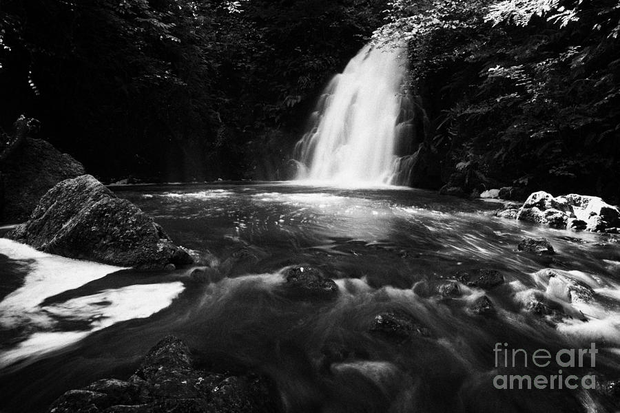Gleno Or Glenoe Waterfall County Antrim Northern Ireland Uk Photograph