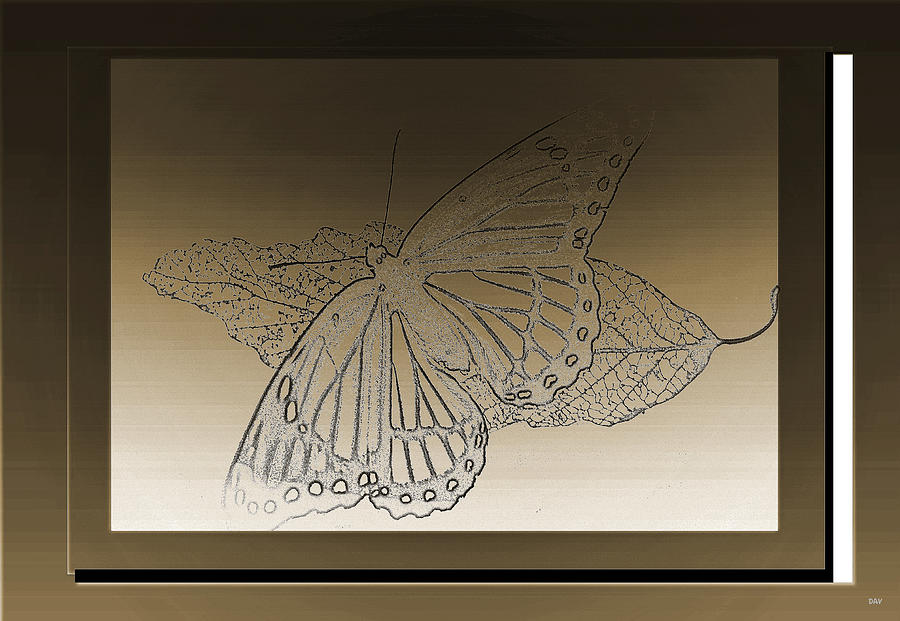 Glimmer Butterfly Collection Mixed Media  - Glimmer Butterfly Collection Fine Art Print