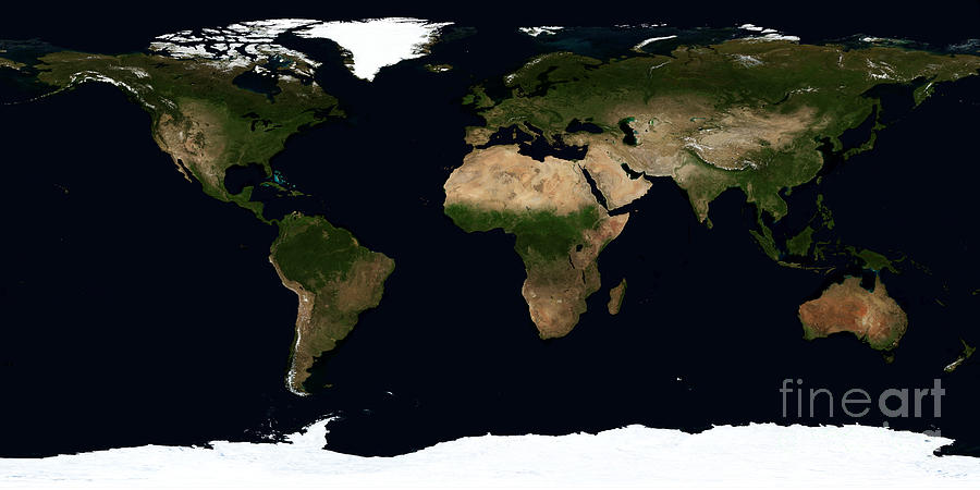 Global Image Of The World Photograph