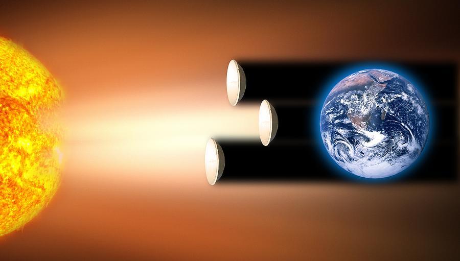 Global Warming Sun Shields, Artwork Photograph