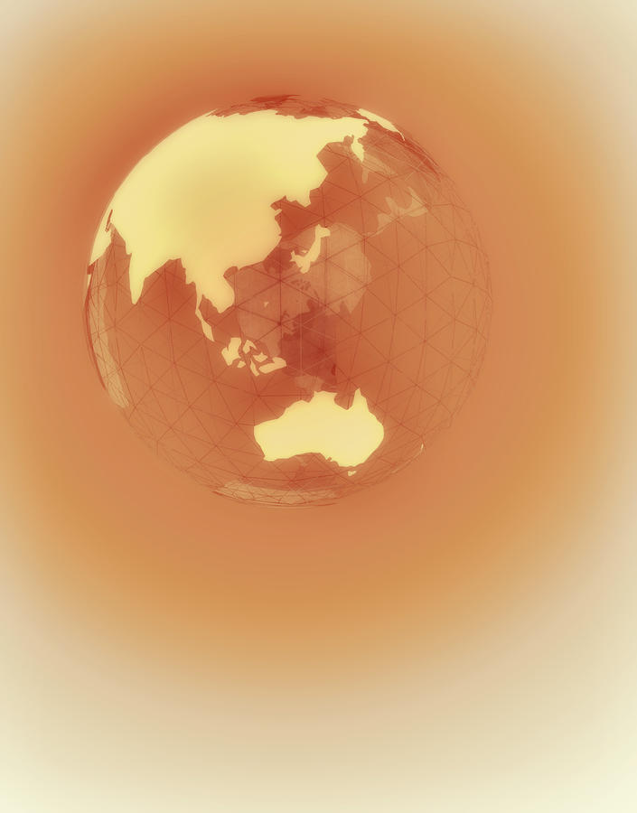 Globe Of Eastern Hemisphere Digital Art  - Globe Of Eastern Hemisphere Fine Art Print