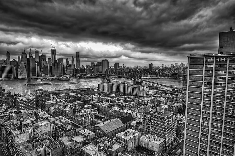 Gloomy New York City Day Photograph  - Gloomy New York City Day Fine Art Print