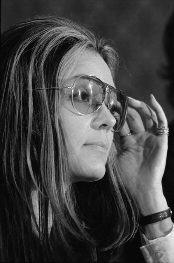 Gloria Steinem B. 1934, Feminist Photograph