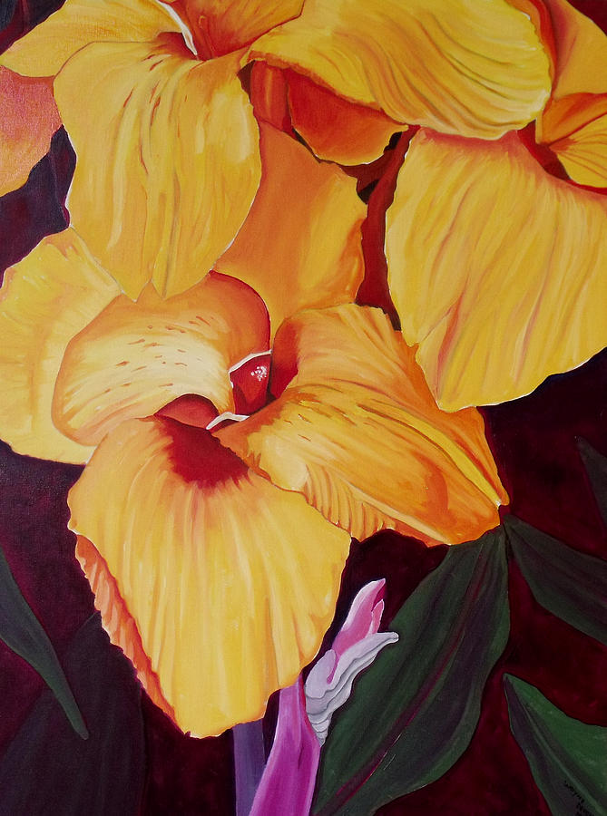 Glorious Canna Lily Painting