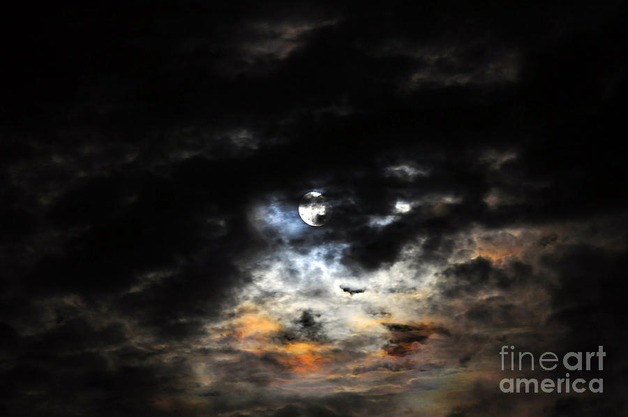 Moon Photograph - Glorious Gibbous - Wide Version by Al Powell Photography USA