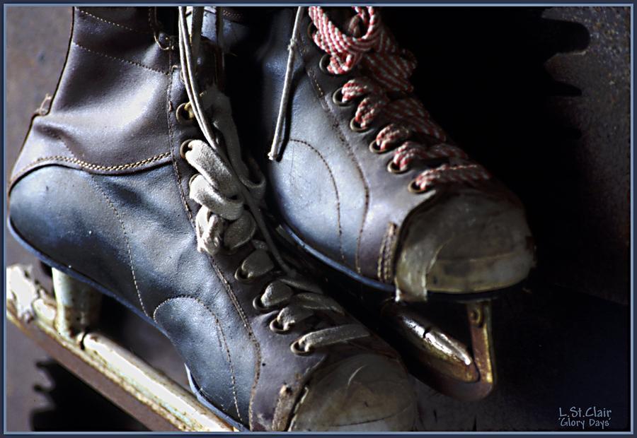 Hockey Photograph - Glory Days by Lori St Clair