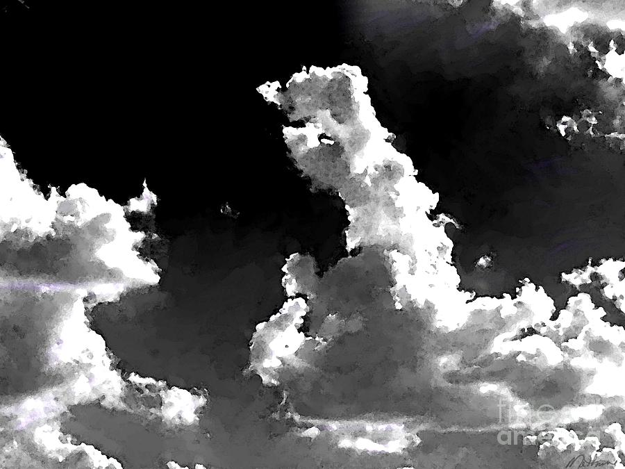 Glowing Clouds Painting  - Glowing Clouds Fine Art Print