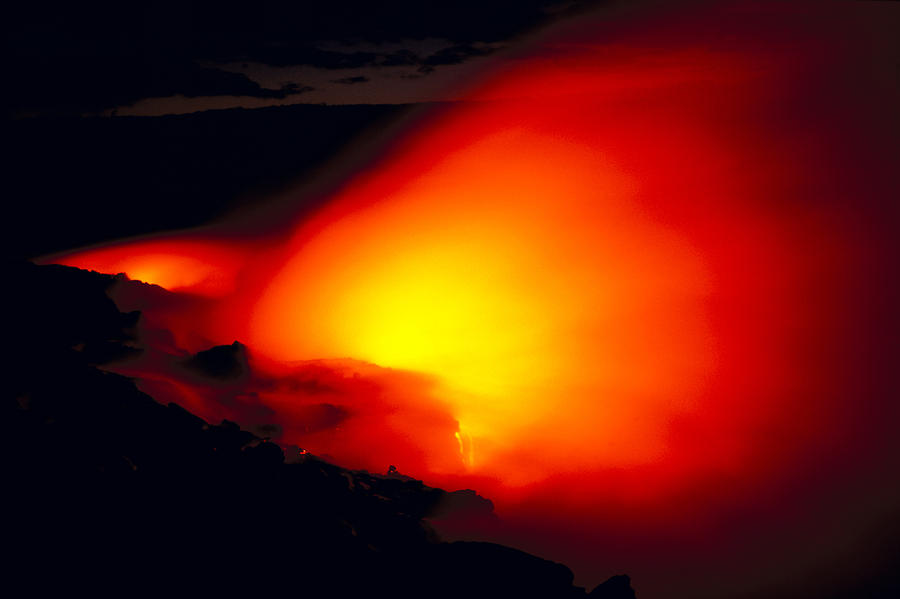 Glowing Lava Flow Photograph  - Glowing Lava Flow Fine Art Print