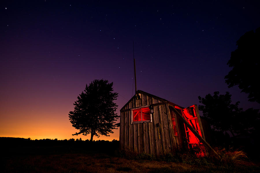Shed Photograph - Glowing Shed by Cale Best