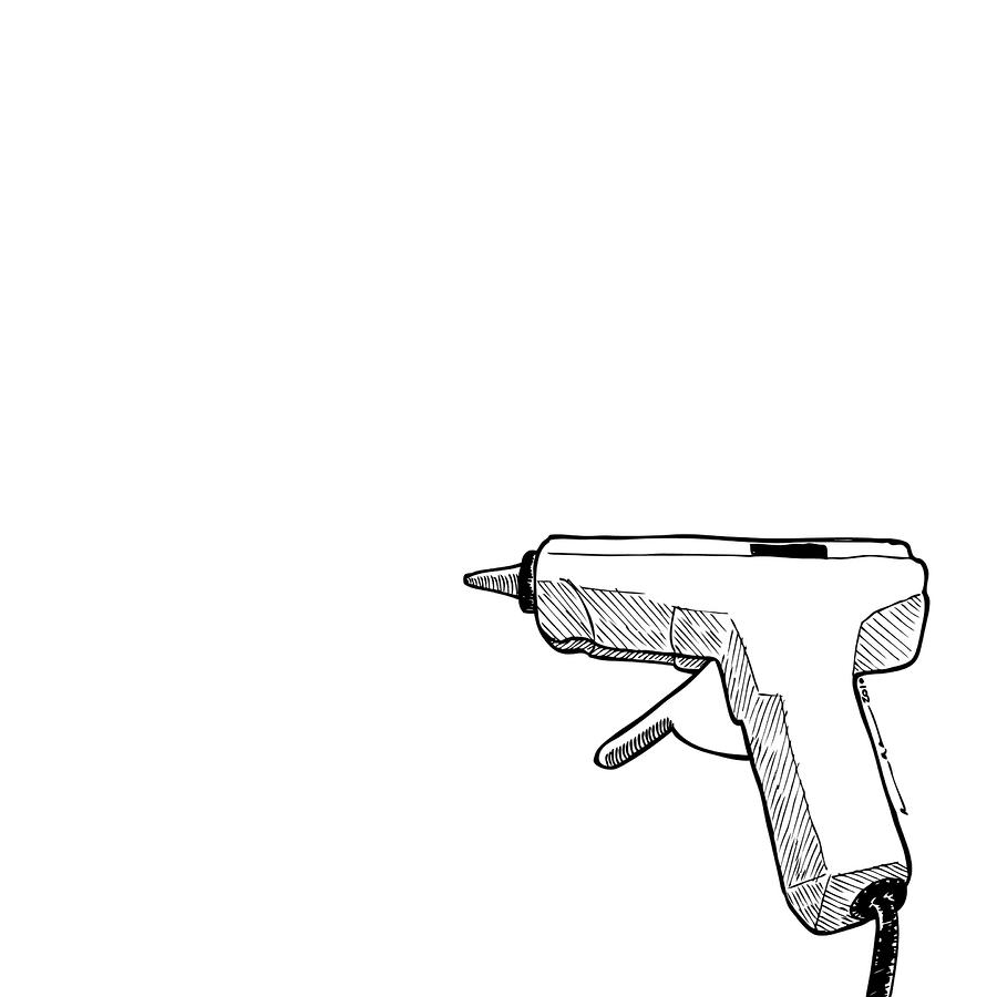 Glue Gun Drawing  - Glue Gun Fine Art Print